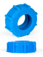 Burning Wheels 100% Silicone Cockring CK08 Blue