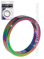 Push Steel - High Polished Rainbow Cockring - 10mm