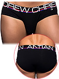 Andrew Christian - Fly Tagless Brief - Schwarz