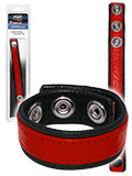 Push Xtreme Leather - Leather Cockring Strap Band Red