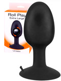 Roll Play Anal Plug Black - Extra Large
